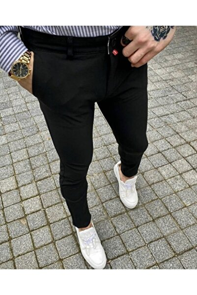 Eddy Magıc Erkek Siyah Dar Kesim Pantolon