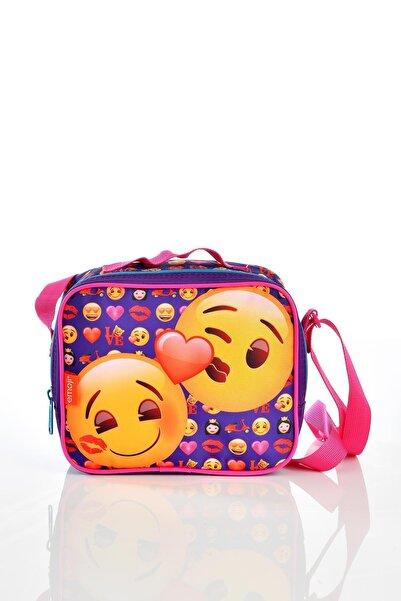 Yaygan Pembe Emoji Beslenme Çantası 22815