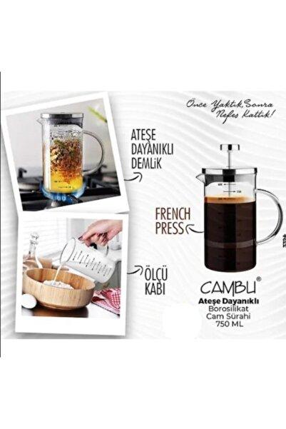 MATMAZELŞHOP My Bottle Cambu 600 Ml Borosilikat French Press