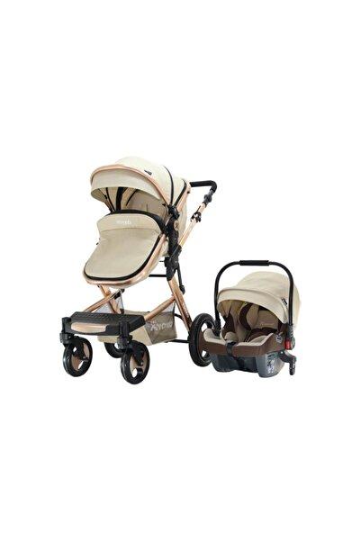 YOYKO Bej Rose Elegance Travel Sistem Bebek Arabası 3in 1