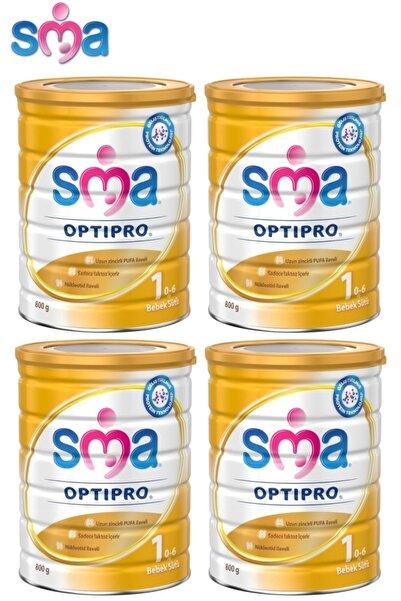 SMA Optipro No:1 800gr Devam Sütü (0-6 Ay) 4 Lü Set
