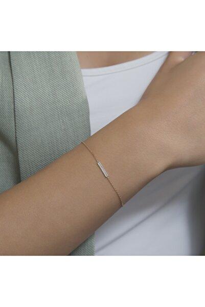Gianni Diamond 18 Ayar Rose Altın Pırlantalı Tasarım Bilezik
