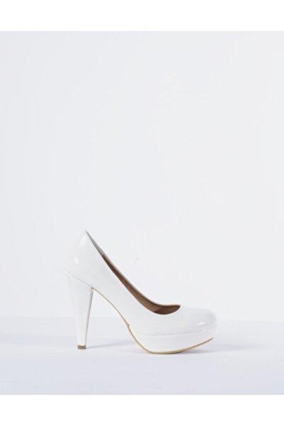Vision Kadın Beyaz Topuklu Ayakkabı