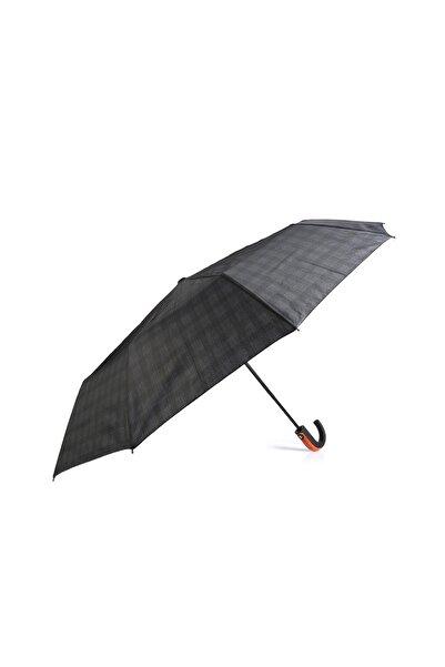 Almera Unisex Siyah Otomatik Şemsiye