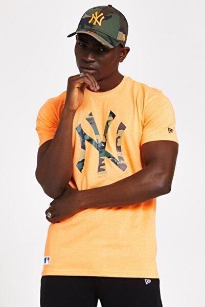 NEW ERA Erkek Turuncu Newyork Yankees T-shirt