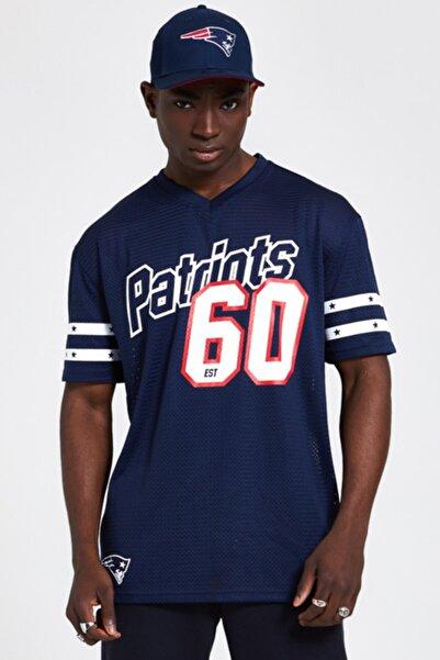 NEW ERA Erkek Lacivert Patriots 60 Oversize Tshirt