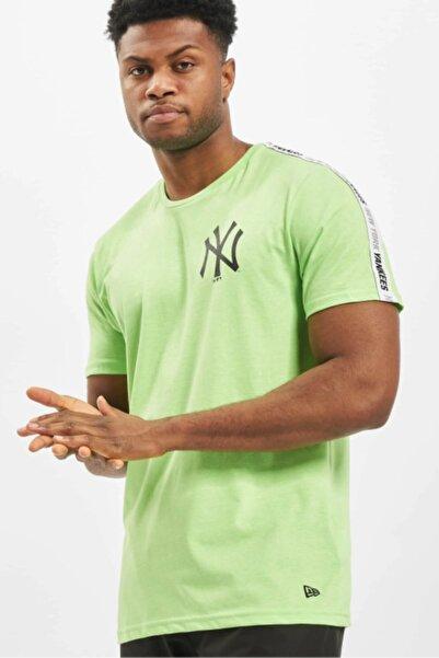 NEW ERA Erkek Yeşil Newyork Yankees Beyaz Kol Bantlı Tshirt