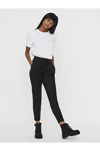 Vero Moda Kadın Siyah Boru Paça Pantolon