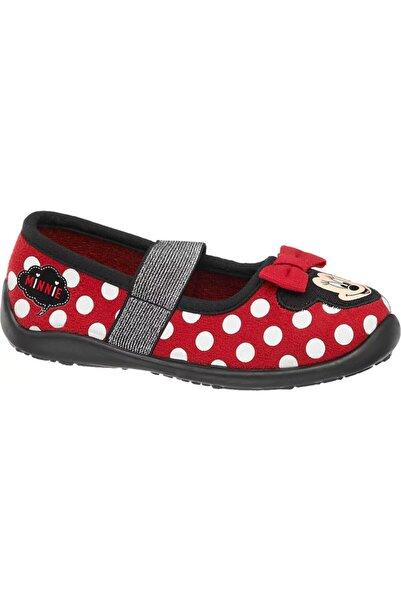 Minnie Mouse Deichmann Kız Çocuk Kırmızı Ev Ayakkabısı 16721164