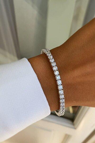 Crystal Diamond Zirconia Labaratuvar Pırlantası 6 Carat Su Yolu Bileklik