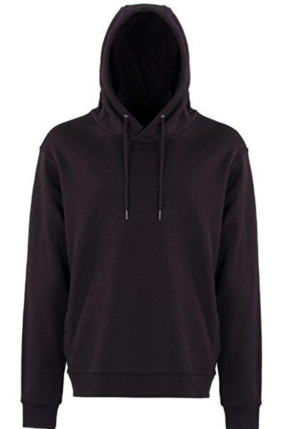lumberjack Erkek Siyah Basic Hoodıe  Sweatshirt