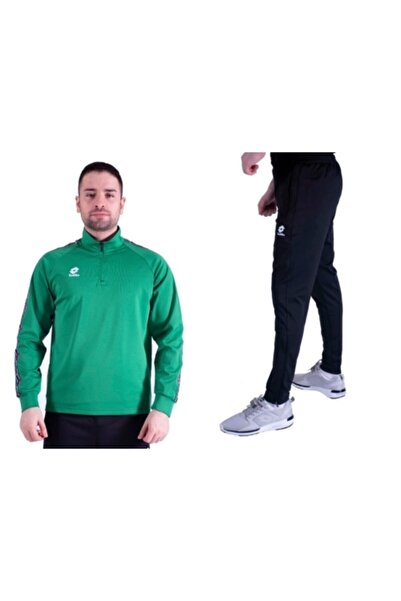 Lotto Unisex Yeşil Eşofman Takımı Horz Yarım Fermuar R8963