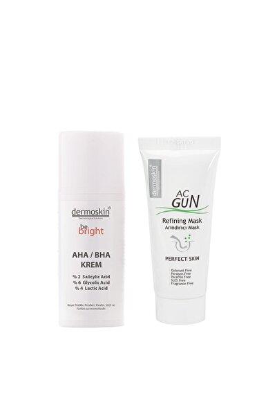 Dermoskin Be Bright Aha Bha Krem 33 Ml + Acgun Arındırıcı Mask 30 Ml 2'li Avantaj Paket