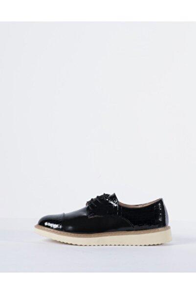 Vision Kadın Siyah Oxford Ayakkabı