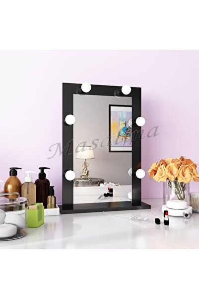 Masalina Ayna Masal Işikli Makyaj Aynası 40*60 Ayaklı Siyah