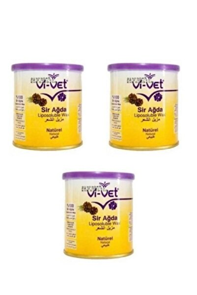 Vi-vet Sir Ağda Konserve Naturel 240 Ml 3'lü Set