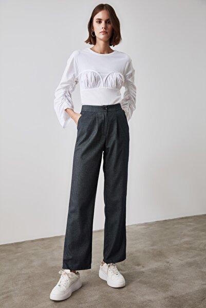 TRENDYOLMİLLA Antrasit Basic Pantolon TWOAW21PL0550