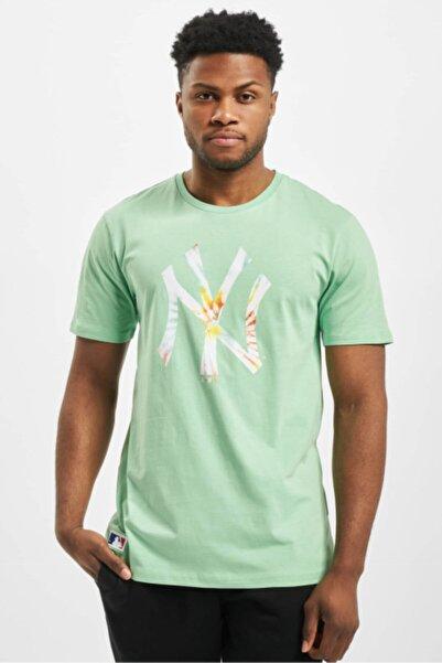 NEW ERA Erkek Yeşil Tie Dye Logo Newyork Yankees Tshirt