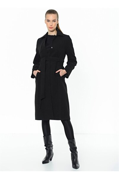 Dewberry Kadın Siyah Palto Z6570