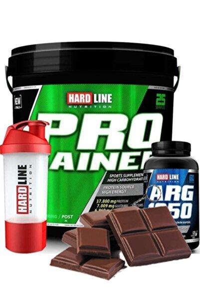 Hardline Progainer 5000 gr Çikolata Arg 1250 Shaker Kombinasyonu Protein Tozu Bcaa Progainer Karnitin