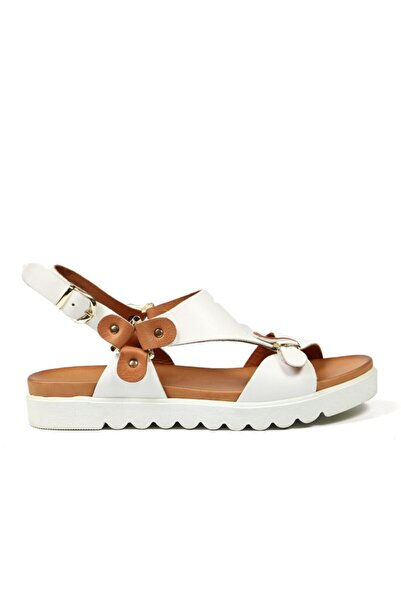 Hammer Jack Kadın Beyaz Sandalet