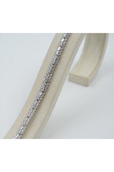 Swarovski Kadın Beyaz Zirkon Taşlı 925 Ayar Gümüş  Bileklik
