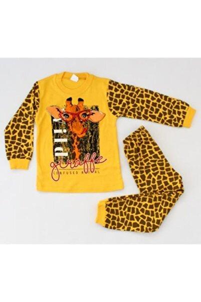 Süpermini Zürafalı 4 - 5-6 Yaş Pijama Takımı
