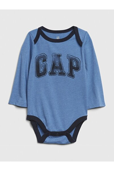 GAP Erkek Bebek Mavi Logo Uzun Kollu Body