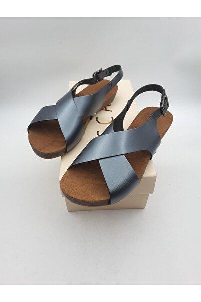 Oscar Kadın Bronz İçi Dışı Hakiki Deri Sandalet 100