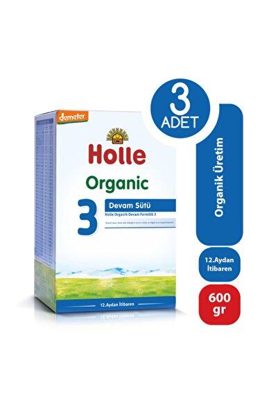 Holle Organik Devam Sütü 3 600 Gr - 3'lü Paket