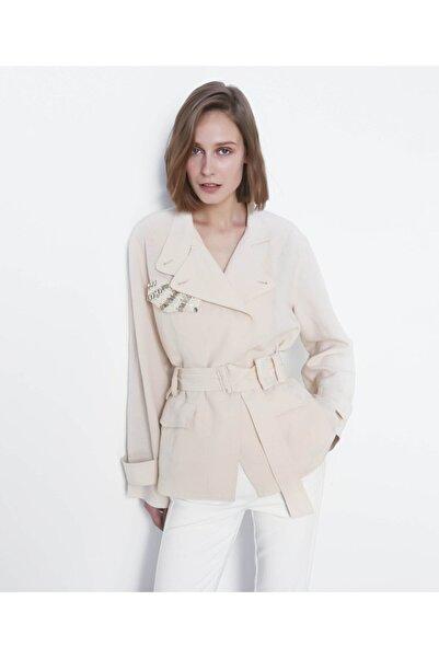 İpekyol Kadın Pastel Pembe Kemerli Ceket