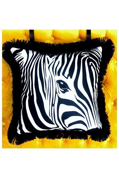 Viola Zebra Püsküllü Kırlent