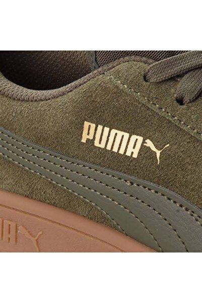 Puma Smash V2 Koyu Haki Erkek Deri Ayakkabı 100352559