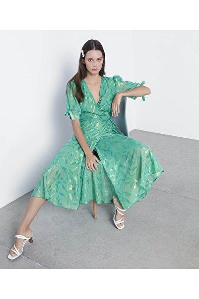 İpekyol Kadın Yeşil Anvelop Form Elbise