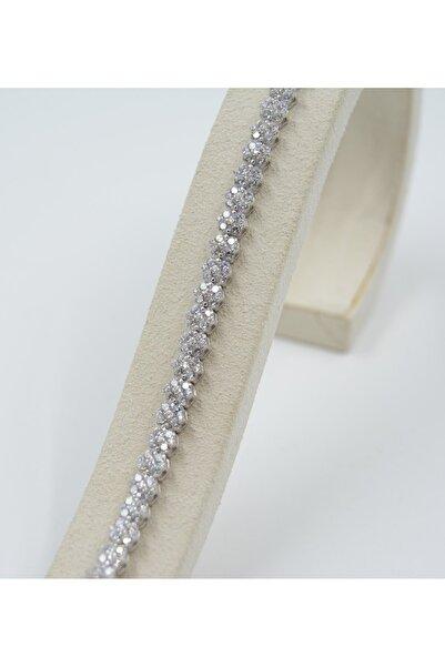 Swarovski Kadın Beyaz Zirkon Taşlı Gümüş Bileklik 925 Ayar