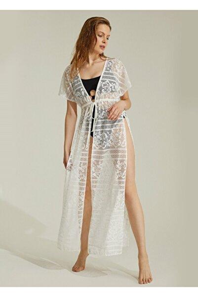 SUWEN Kadın Ekru Sunrise Plaj Elbisesi
