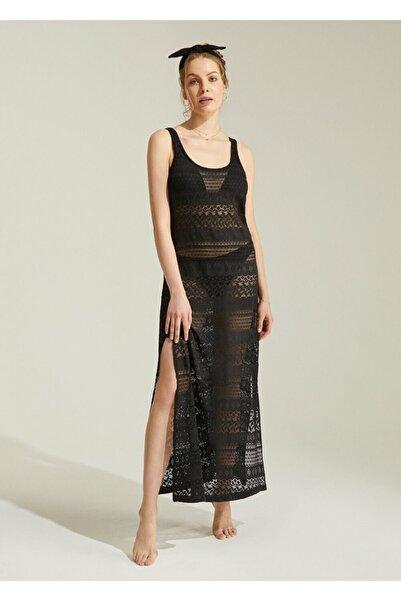 SUWEN Kadın Siyah Emily Plaj Elbisesi