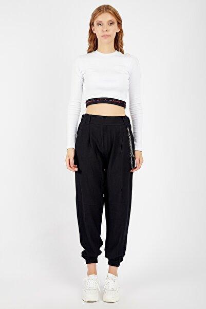 Manche Kadın Siyah Pantolon Mk20s660102