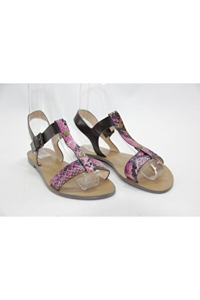 İnci Kadın Mor Leopar 39 Numara Hakiki Deri Topuklu Ayakkabı