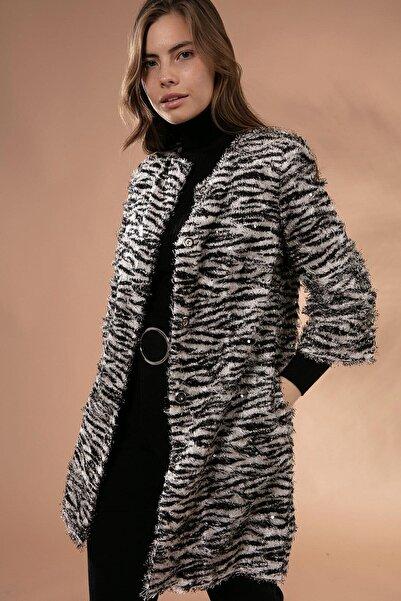 Y-London Kadın Kemik Sakallı Pullu Ceket Y19W127-11605-3