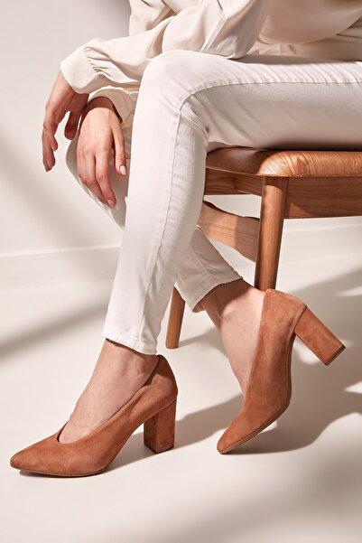 Hotiç Hakiki Deri Taba Kadın Klasik Topuklu Ayakkabı 01AYH154480A370
