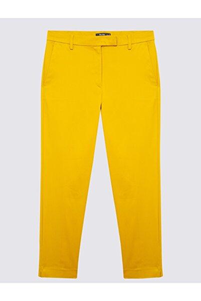 Marks & Spencer Kadın Sarı Pamuklu 7/8 Pantolon T59005757X
