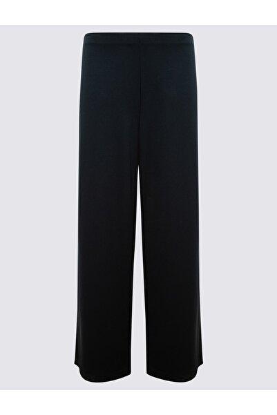 Marks & Spencer Kadın Lacivert Jarse Wide Leg Pantolon T59006828