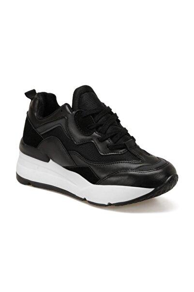 Butigo 20k-007 Siyah Kadın Kalın Taban Sneaker Spor Ayakkabı