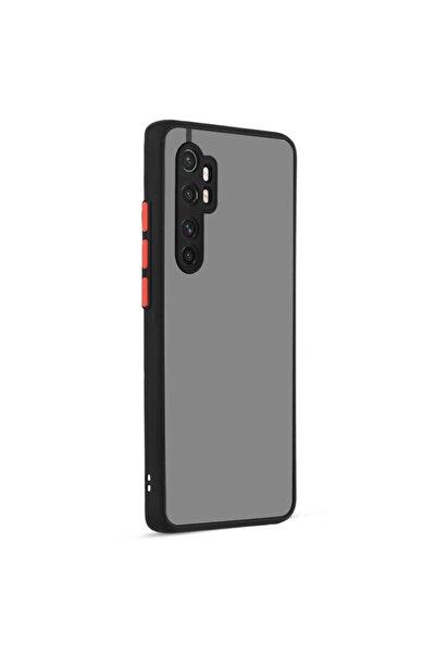 Fibaks Xiaomi Mi Note 10 Lite Kılıf Kamera Korumalı Mat Renkli Buzlu Hux Silikon + Ekran Koruyucu