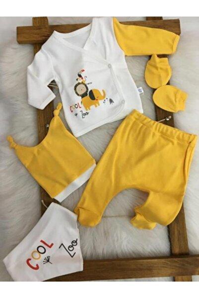 Fantastic Baby Aslan Tema Yenidoğan 5'li Zıbın Set