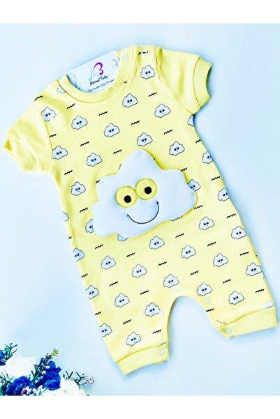 Baby Mii Erkek Bebek Sarı Bulut Kabartmalı Tulum