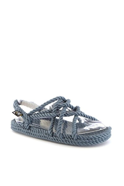Nomadic State Of Mind Kadın Mavi Hasır Sandalet