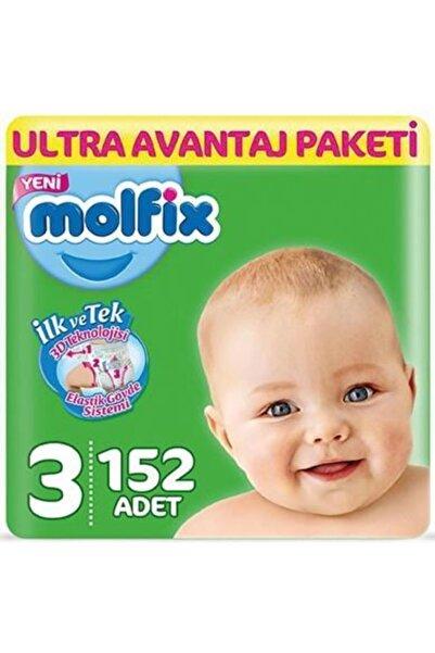 Molfix Bebek Bezi 3 Beden Ultra Avantaj Paketi 152 Adet