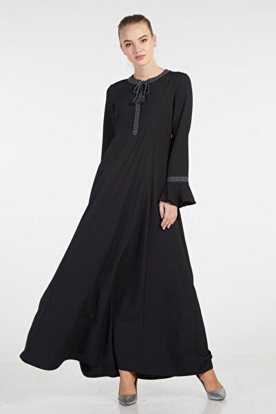 Tuğba Kadın Siyah Elbise